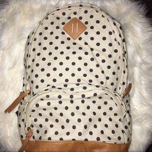Handbags - Polka Dot Canvas Backpack